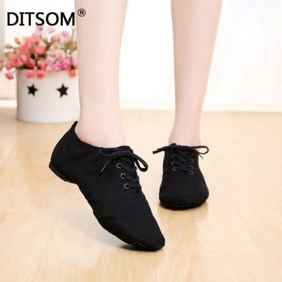 2019 Cloth Women's Dance Shoes Lace Up Ballet Shoes Soft Sport Sneakers Gymnastics Fitness Shoes For Adults Children Size 31-45