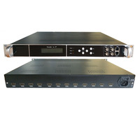 12 channel high definition encoder HDMI to IP, ASI hotel IPTV TV system front end equipment, network live encoder
