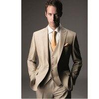 Men Normal Prom Suits Groom Tuxedos Groomsman Blazer Business Suits Fashion Men Three Piece Suits (Jacket+Pants+Vest+Tie)