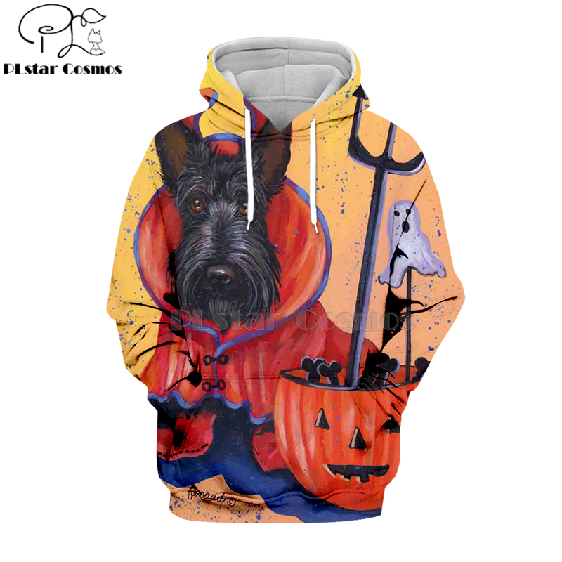 PLstar Cosmos animal black dog party 3d hoodies/shirt/Sweatshirt Winter Christmas Halloween streetwear-8