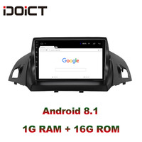 IDOICT Android 8.1 Car DVD Player GPS Navigation Multimedia For Ford kuga escape C max 2013 2015 car stereo bluetooth wifi