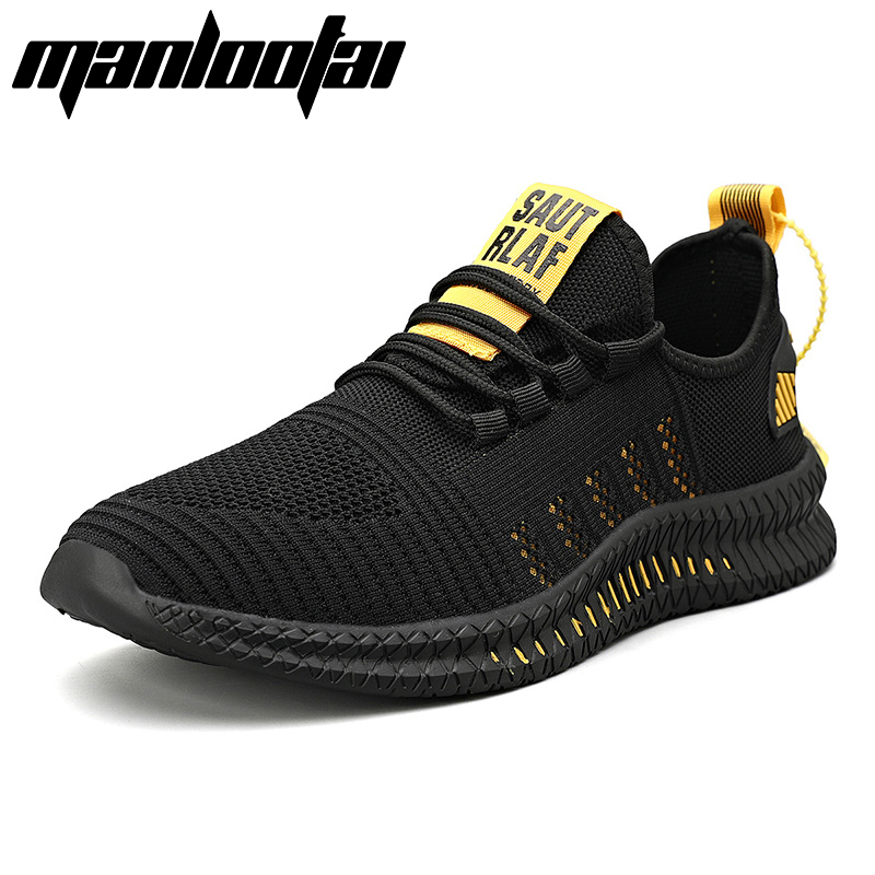Manlootai New Men Sneakers Mesh Casual Shoes Lac up Mens Shoes Lightweight Vulcanize Shoes Walking Sneakers Plus size 39 48