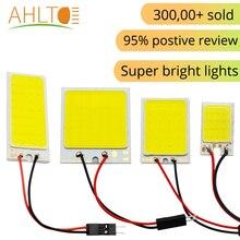 1 шт. Светодиодная лампа для чтения салона автомобиля T10 COB W5W C5W 16 24 36 48 светодиодов 7 цветов на выбор потолочный светильникАкция Double Eleven для Ро...