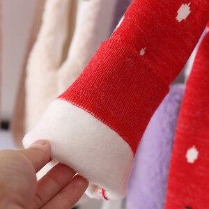 Image 4 - 2020 inverno das crianças roupas meninas camisolas casual impresso engrossar lã de malha do bebê menina pullovers camisola para menina crianças