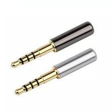 Connecteurs Jack Jack 3.5mm longueur 42mm, adaptateur Audio stéréo 4 broches pour Denon D7100 mm400 1/2/10 pièces plaqué or