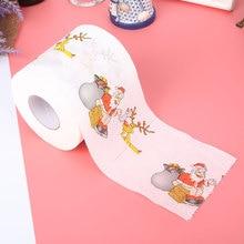 Туалетная бумага напечатанная 10,3*10,3*10 см веселая Рождественская бумага праздничные принадлежности рождественские аксессуары Санта-Клаус узор милые поделки