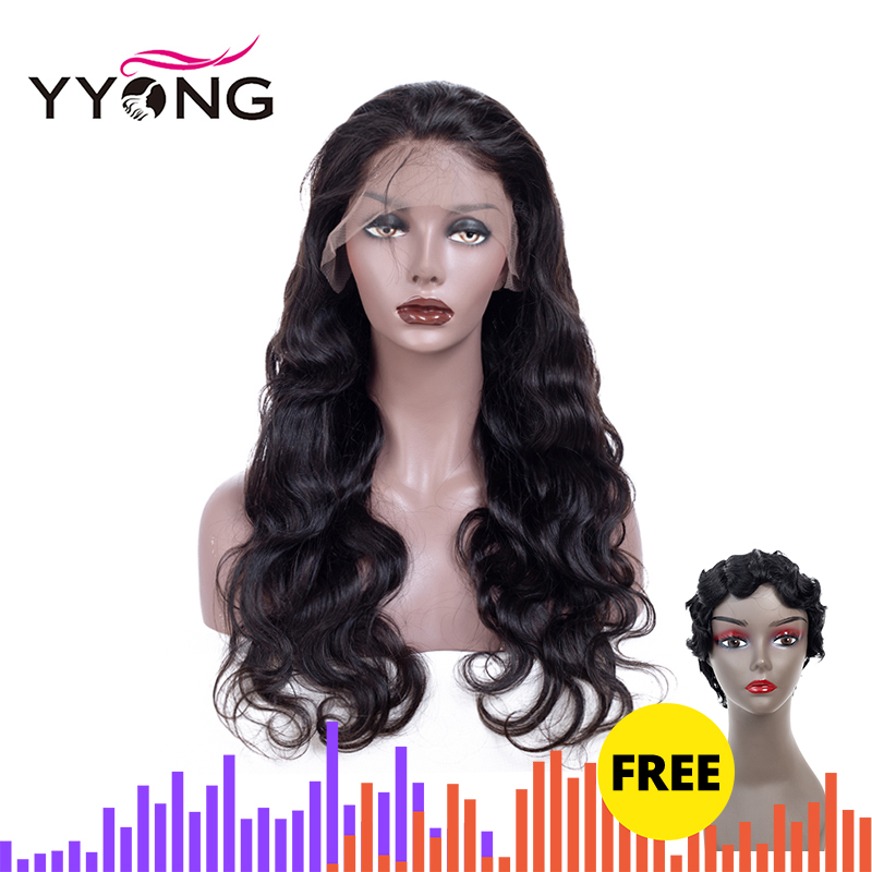 YYONG 13x4 Body Wave Lace Front Human Hair Wigs For Women Peruvian Wig Pre Plucked With Baby 12-26 Remy