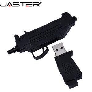 Image 2 - JASTER USB 2.0 serin makineli tabanca silah modeli Flash sürücü tabanca AK47 4 64GB kalem sürücü hediye