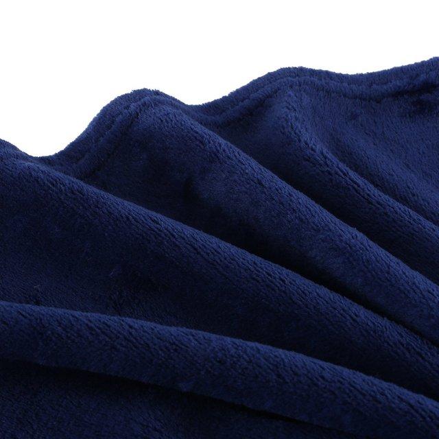 70x100CM Super doux garder au chaud flanelle couverture grande taille couleur unie maison canapé literie bureau voiture couverture maison Textile