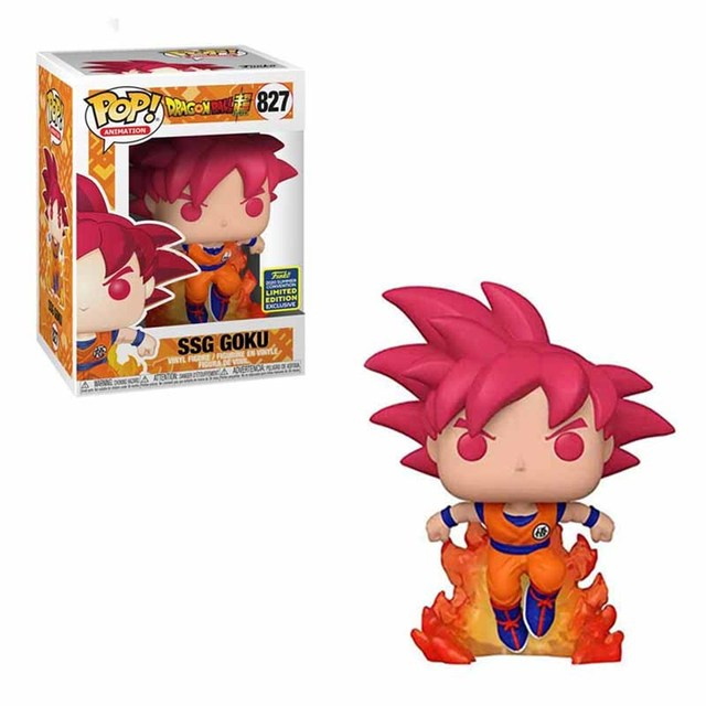 FUNKO POP Dragon Ball Super Saiyan Goku #827 Action Figure Toys 10cm Vinly Model Dolls for Kids Birthday Gifts 1