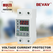 230V 40A/63A  Adjustable Voltage Protector Protection Home Appliances Overvoltage and Undervoltage Protection Relay