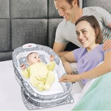 New Mattress Baby Bed All Surrounded By Boys And Girls In The Beds Portable Folding Multi-Function With Music Night Light Anti-P(China)