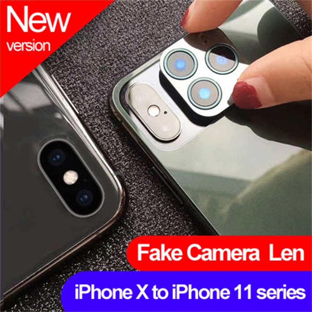 New Fake Camera Lens Back Protector Cover Camera Cover Glass Sticker Film for iPhone X XS Max Change to iPhone 11 Pro Max