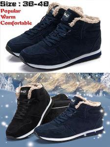 Winter Shoes Footwear Snow-Boots Ankle Black Blue Men's Women Plus-Size Fashion
