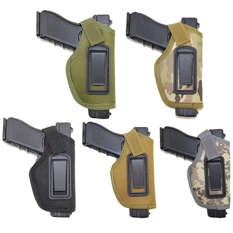 IWB Conseal Gun Holster Pistol Airsoft Holster For Golck 17 18 19 22 26 Colt 1911 Makarov Holster Bag Universal Right Hand Case