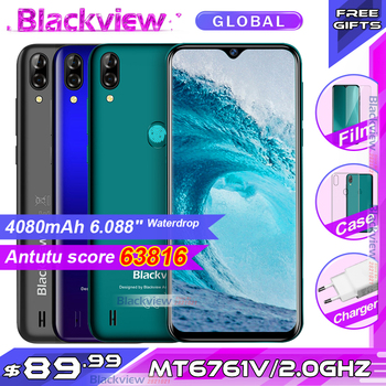 Blackview A60 Pro Smartphone MTK6761 Quad Core 6.088'' Waterdrop Screen 3GB RAM 16GB ROM Android 9.0 4G Mobile phone A60PRO 1