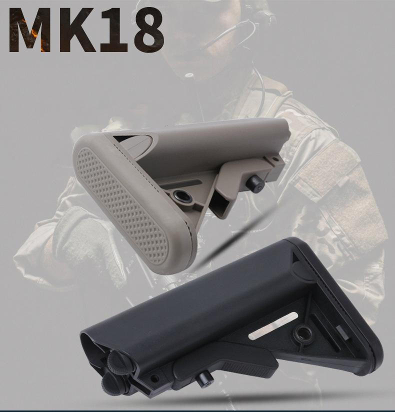 MK18 Nylon Stock For Airsoft AEG Air Gun M4 AK Gel Blaster J8 J9 BD556 CS Sports Paintball Accessories