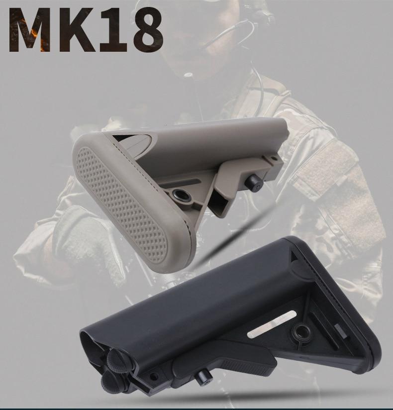 TOtrait MK18 Nylon Stock for Airsoft AEG Air Gun M4 AK Gel Blaster J8 J9 BD556 CS Sports Paintball Accessories(China)