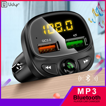 Udyr Car Charger 3.4A Dual USB Car Phone Fast Charger with FM Transmitter Bluetooth Receiver Audio MP3 Player TF Card Car Kit