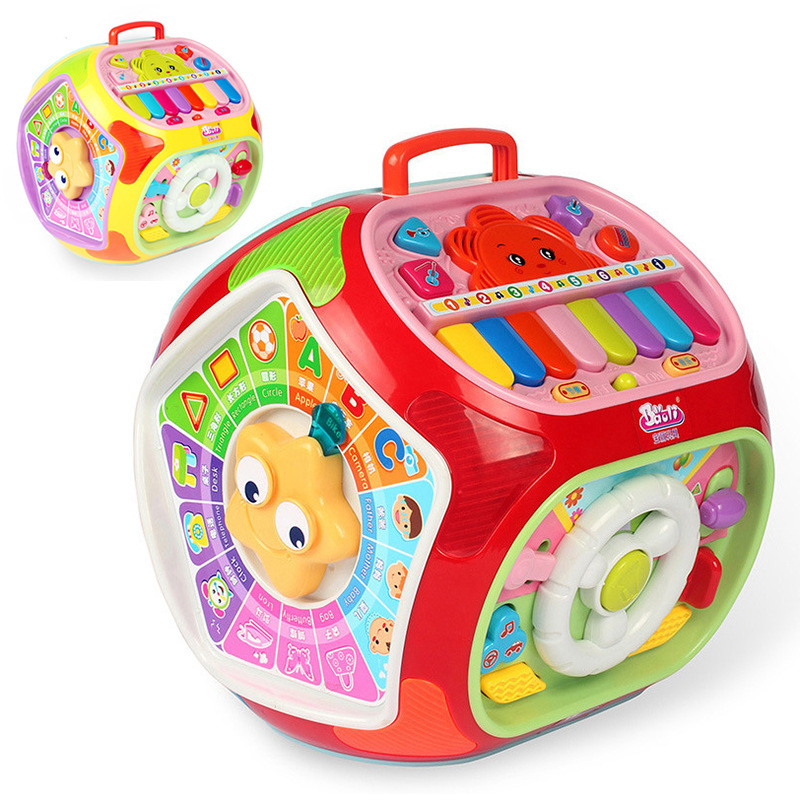 Polaroid Multifunctional Game Table Early Childhood Educational Study Infant Seven Surface Body 1-4-Year-Old Polyhedron Toy
