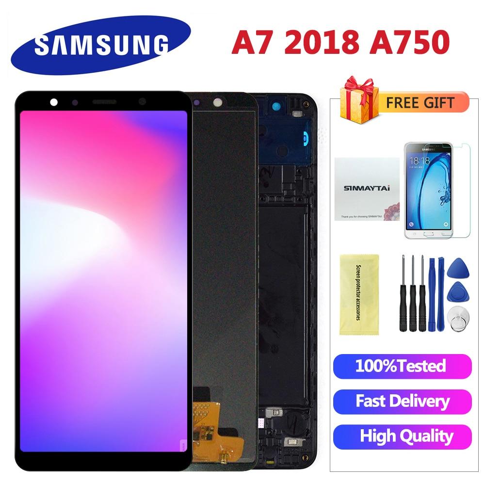 TFT Für Samsung A7 2018 A750 SM-A750F LCD Display Touchscreen Digitizer für Samsung A7 2018 A750FN display lcd bildschirm modul
