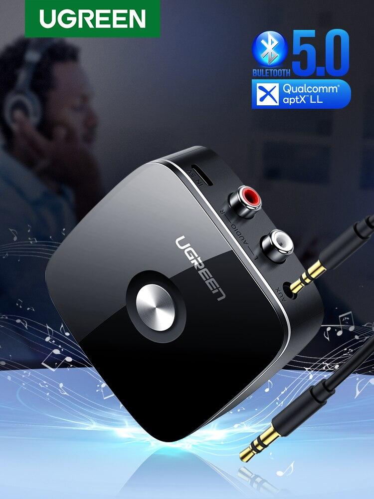 Ugreen Wireless Adapter Receiver Jack Music Aptx Aux LL RCA Audio for TV Car Bluetooth