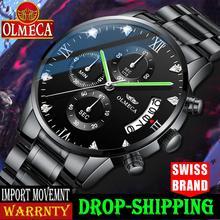 OLMECA Men Watch Luxury Sport Fashion Military Waterproof Quartz Wristwatch Relo