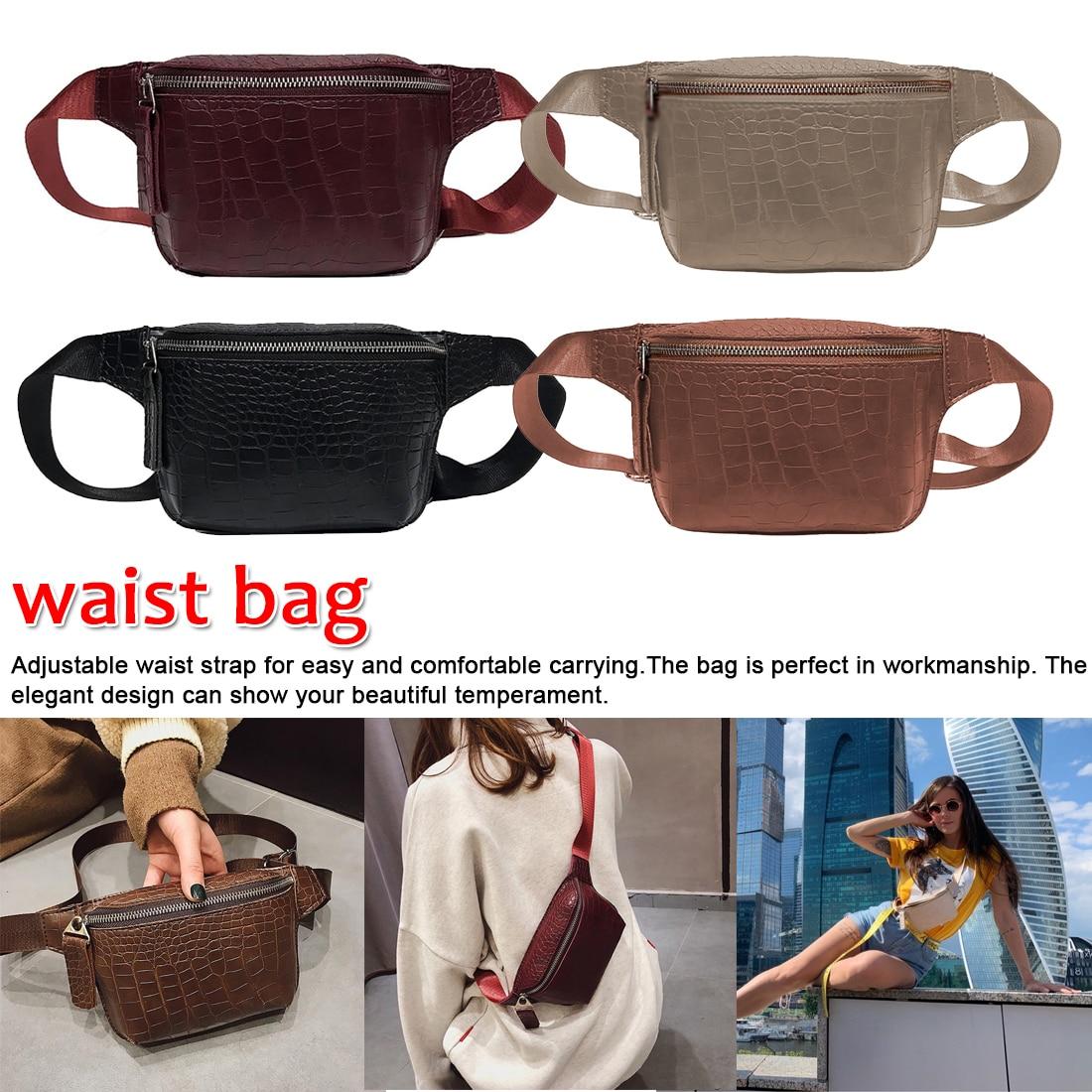 Casual Crossbody Bags For Women Handbag Leather Messenger Shoulder Chest Bag Waist Bag