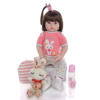 Reborn toddler girl adorable princess vinyl silicone reborn baby doll 60cm lifelike bebes meninia surprice gifts lol - discount item  43% OFF Dolls & Accessories