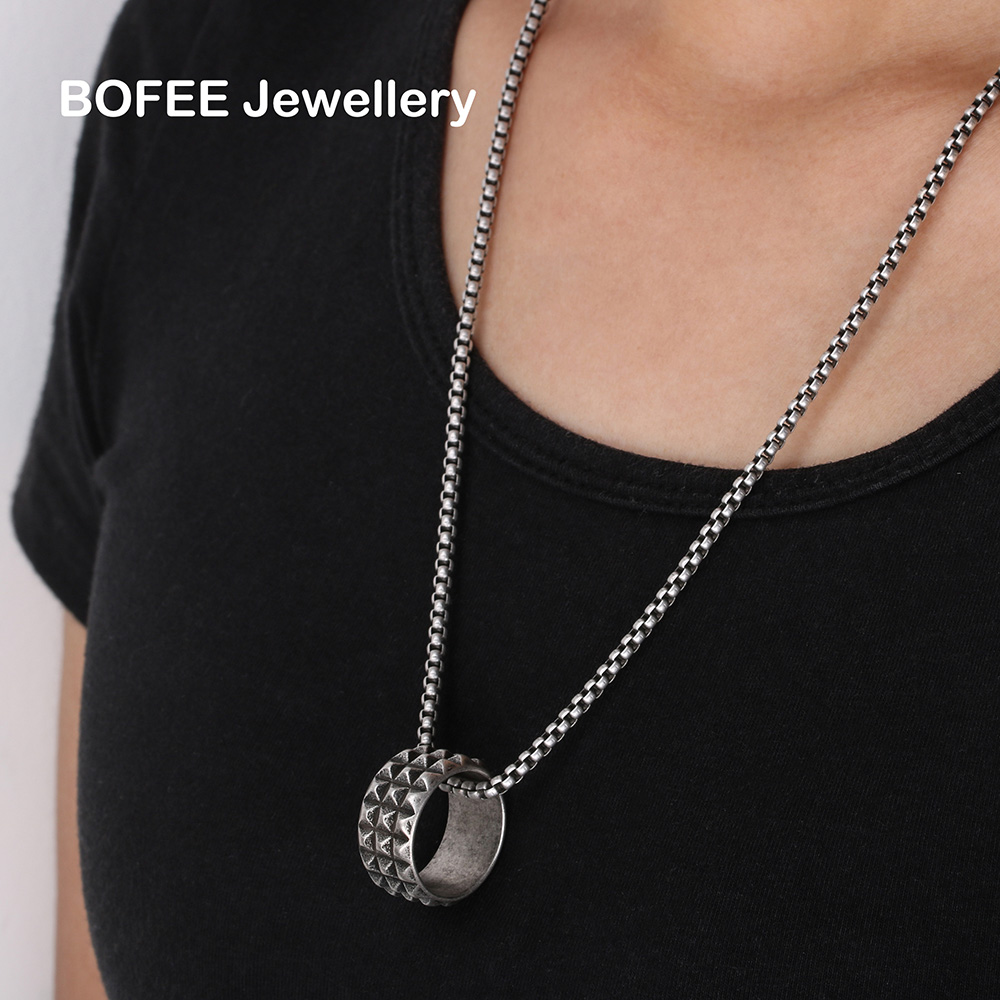 BOFEE Fahsion ring necklace gift