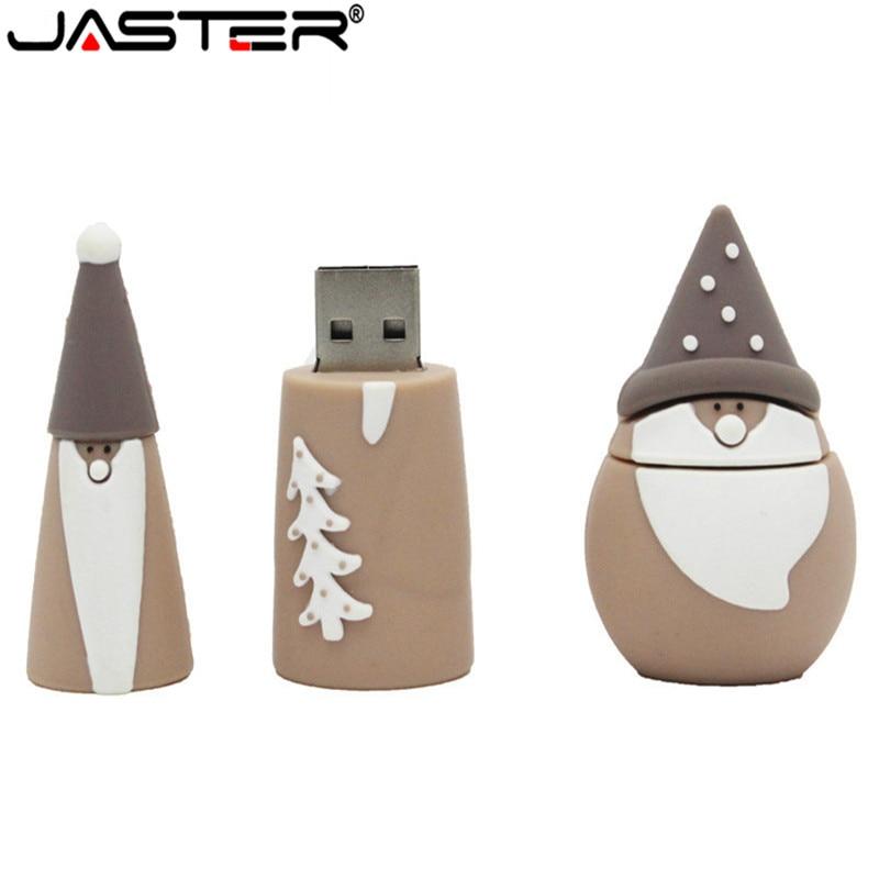 JASTER Usb2.0 Christmas Tree Usb Flash Drive 4GB 8GB 16GB 32GB Usb Flash Drive Pendrive Christmas Give Friend Gift