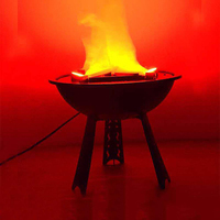 Halloween Decorations Props Electronic Simulation Brazier False Fire Burning Flame LED Light False Fire Props Fake Brazier 220V