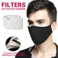Мотоциклетные маски маска для лица с изображением рта шапки мужские хлопковые Балаклавы PM2.5 фильтр с активированным углем Пылезащитная мас...