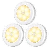 Batterie Powered Motion Sensor Licht Cordless LED Nacht Licht Stick Überall Schrank Treppen Lichter Puck Lichter für Flur bathroo-in Unterschrankleuchten aus Licht & Beleuchtung bei