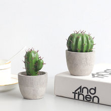 Artificial Simulation Cactus Potted Plant Cute Fake Cactus Garden Decoration Farmhouse Home Office Desktop Decoration Landscape