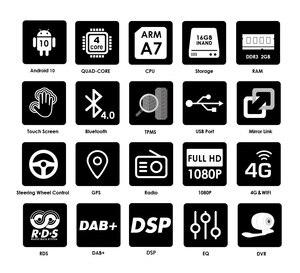 Image 3 - IPS DSP Android 10 4G 1din samochodowy odtwarzacz multimedialny dla BMW X5 E53 E39 GPS stereo audio nawigacja multimedialny ekran jednostka główna DVD