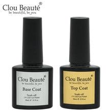 Clou beauté – Vernis à ongles Gel UV Transparent, couche de Base, sans essuyage, Semi-Permanent, laque, petite laque