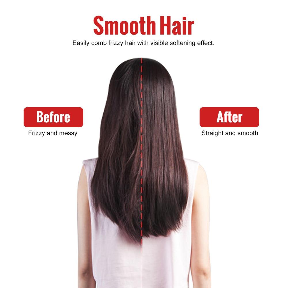 Aquecimento rápido escova de alisador de cabelo