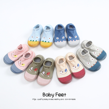 Baby Socks With Rubber Soles Cartoon baby shoes
