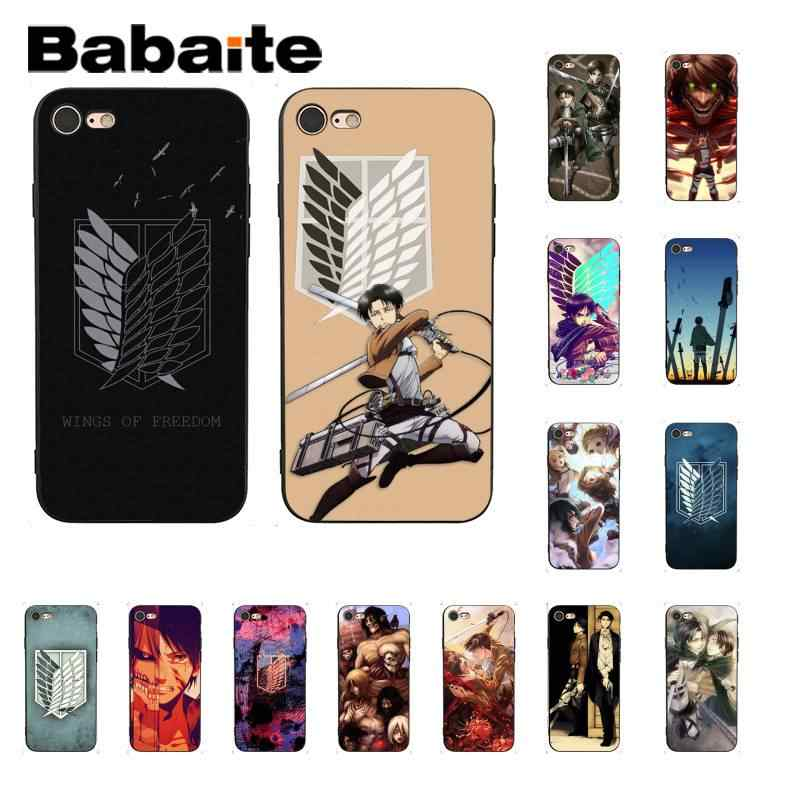 Babaite Aanval Op Titan Anime Japan Zwarte Soft Shell Telefoon Cover Voor Iphone 8 7 6 6S Plus X xs Max 5 5S Se Xr 11 11pro 11Promax