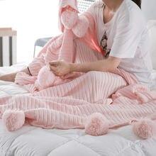 Нордическое простое одеяло с бахромой зимнее для дивана реквизит