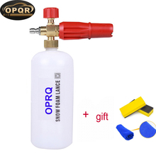 OPRQ Upgrade Foam Cannon 1L Improved Snow Lance Nozzle Pressure Washer Jet Wash with 1/4 Quick Connector Bottle