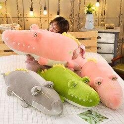 Abajo de algodón de cocodrilo de peluche juguetes de muñeca pijama de niña almohada de cumpleaños de almohada de Qiao zhen personalizable