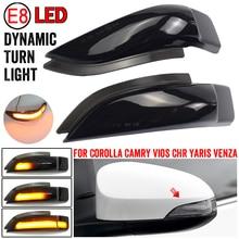 Schwarz Für Toyota Camry Corolla Prius C Venza Avalon Vios Yaris Scion iM LED Dynamische Blinker Seite Spiegel Anzeige licht