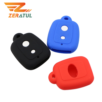 Zeratul for PERODUA Alza Viva Myvi Remote Key Holder 2 Buttons Silicone Car Key Cover Case Set Protection Skin Shell Bag image