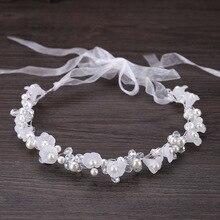 Fashion Bride Handmade Crystal Pearl Flower Head Flower Headdress Hair Accessories perfect Wedding Styling Hair Accessories цена и фото