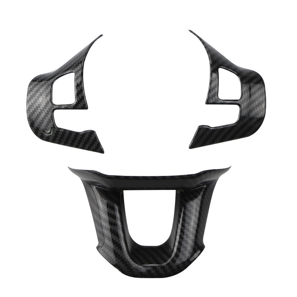 lowest price Zlord 3Pcs Set Car Steering Wheel Decoration Cover Trim Sticker Fit for Peugeot 2008 208 308 2014 2015 2016 2017 2018 2019