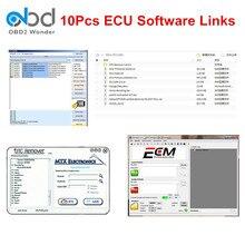 10 шт. OBD2 ECU программное обеспечение ECM titanium Winols V2.24 DTC для удаления V1.8.5 для KESS V2 5,017 KTAG K-tag 7,020 DPF трещина ECU безопасные соединения