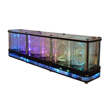 Zestawy DIY RGB LED naśladować Glow Tube zegar LED muzyka spektrum czas tube lampka nocna w pełnym kolorze RGB prezent do dekoracji domu tanie tanio CN (pochodzenie) NONE 220 v LED Music Spectrum DIY Kits Decor Gift HOLIDAY