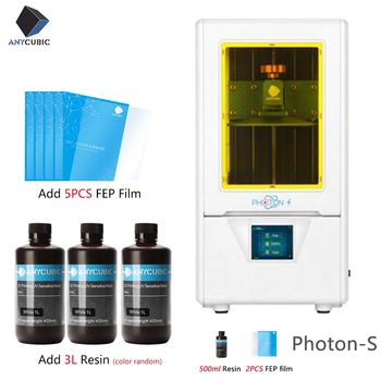 Brazil Free Ship ANYCUBIC Photon-S LCD 3D Printer Quick Slice 405nm Matrix UV Light Dual Z axis SLA  3d Printer PhotonS Upgraded 1